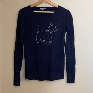 Long sleeve dog sweater from the Loft